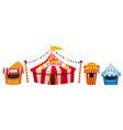 amusement park a landscape with a circus vector image vector image
