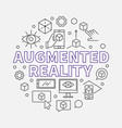 augmented reality round outline vector image vector image