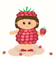baby in a raspberry suit vector image