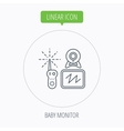 Baby monitor icon Video nanny for newborn sign vector image vector image