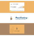 beautiful coffee logo and business card vertical vector image vector image