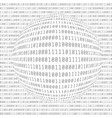 binary computer code digital data abstract matrix vector image vector image