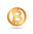 bitcoin the world famous digital currency icon vector image