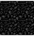Black and white summer seamless pattern vector image vector image