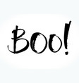 boo lettering for halloween vector image vector image