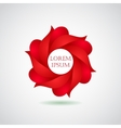 Business emblem icon of red leaves vector image vector image