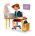 businesswoman in office of vector image vector image
