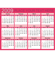 calendar for 2009 vector image vector image