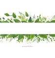 card floral design with green watercolor leaves vector image vector image