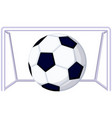 cartoon soccer football game goal icon vector image