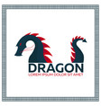 chinese traditional dragon east asia flat vector image vector image