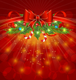 Christmas glowing packing ornamental design vector image