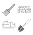 cleaning and service logo vector image
