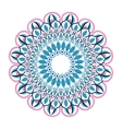 colorful intricate mandala icon vector image vector image