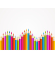 Colorful rainbow pencil pattern vector image