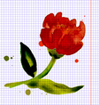 Composition with flower peony vector image