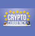 crypto currency big words with various options of vector image vector image