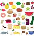 cute food kawaii vector image vector image