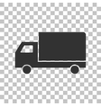 Delivery sign Dark gray icon on vector image vector image