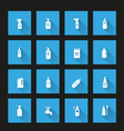 detergent bottle icon set long Shadow vector image vector image
