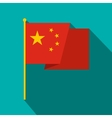 Flag of China icon flat style vector image vector image