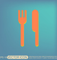 fork and knife symbol lunch cutlery vector image vector image