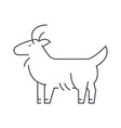 goat line icon sign on vector image