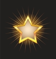 gold star frame with beams vector image vector image