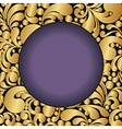 golden curves circle2 vector image vector image