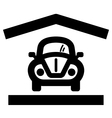 Home garage icon vector image vector image