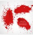 ink splatter collection background vector image vector image