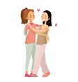 isolated cute gay couple vector image vector image