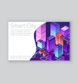 isometric city business card vector image vector image