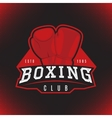 label of boxing vector image vector image