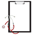 Medical clipboard vector image vector image