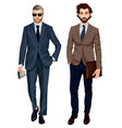 modern fashionable businessmen vector image vector image