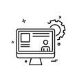 monitor icon design vector image vector image
