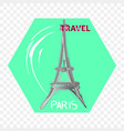 paris travel label for design and print vector image