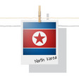 photo of north korea flag on white background vector image