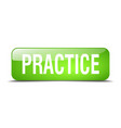 practice green square 3d realistic isolated web vector image vector image