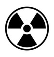 radioactive material sign symbol of radiation vector image vector image