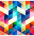 retro color triangle seamless texture vector image vector image