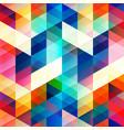 retro color triangle seamless texture vector image