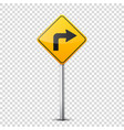 road yellow signs collection isolated on vector image vector image