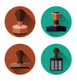 rubber stamp set vector image vector image