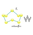 S8 octasulfur molecule vector image vector image