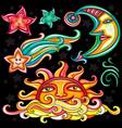 set celestial symbols vector image