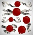 set of ribbons with seals vector image
