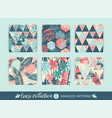 set tropical and sea seamless patterns with vector image vector image
