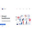 smart healthcare medicine service landing page vector image vector image
